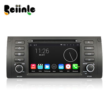 Beiinle Android 4.4.4 QUAD CORE 1024*600 Car 2 Din Auto DVD Stereo GPS RadioNavigator for BMW 5 E39 X5 E53 M5 Range Rover(China)