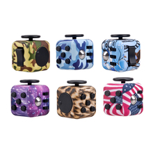 New Arrival Camouflage Fidget Cube Decompression Toys Children Adult Gifts Toys