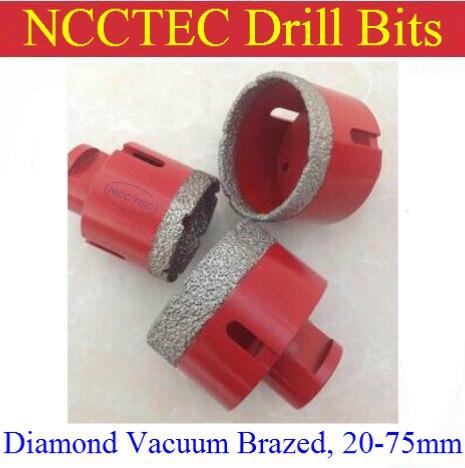 [M14 thread ] 43mm diameter Diamond Vacuum Brazed Core Drill Bits CD43VBM14 FREE shipping | 1.7 granite hole saw drill tools<br>
