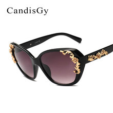 Women Sunglasses Rose Flower Fashion Brand Designer Floral Lady Sun Glasses Goggle Eyewear Female