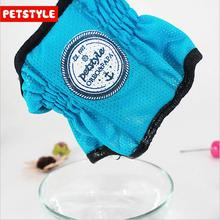 NEW Dog Pet Cool Sense Cat Clothes Petstyle Dog Ice Neck Set Summer Pet Dog Cooling Collar Blue(China)