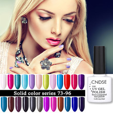 CNDSE 10ML/Bottle 96 Colors Soak-off UV Led Gel Polish Nail Art Manicure Nail UV Colorful Gel Lacquer Nail Polish(China)