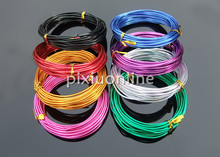 1roll 1mm*5m colorful Aluminum Wire K718B Connecting Lead Metal Oxidation Wires for DIY Model Making Free Shipping