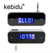 Kebidu 3.5mm LCD Display Car Radio MP3 Player Kit In-car FM Transmitter Handsfree Micro USB Cable For Smartphones(China)