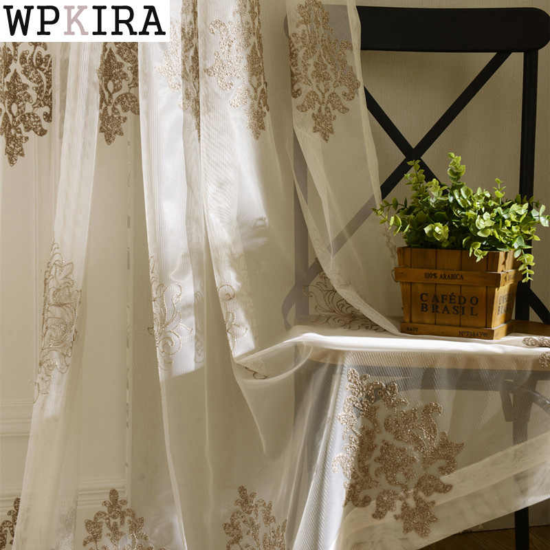 ready made tulle for windows modern living room white curtain living room window rustic home bedroom curtain yarn S015&30