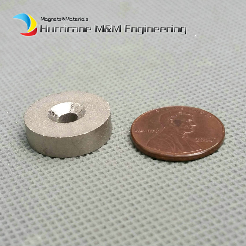 1 pack SmCo Magnet Disc Diameter 18x5 mm 0.7 M5 Screw Countersunk Hole YXG24H 350 Degree C High Temperature Rare Earth Magnets<br>