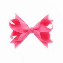 100pcs/lot New Arrival Factory Make Bulk kids Girls hair accessories HairBows Clips Light pink(China)