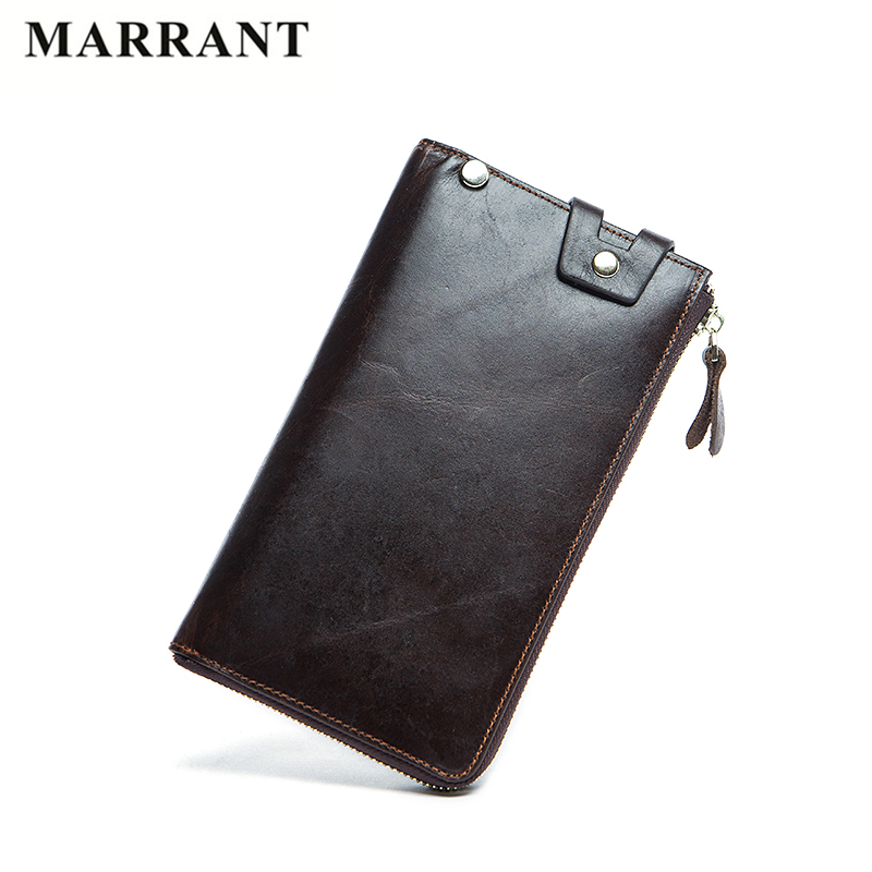 MARRANT Brand Genuine Leather Man Long Wallets Men Clutch Bags Zipper Multifunction Wallet Male Purse Mans Leather Card Holder<br><br>Aliexpress
