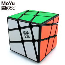 Original MoYu YJ8226 Crazy Hot Wheel 3x3x3 Odd Skew Magic Cube Speed Puzzle Cubes Kids Educational Toys(China)