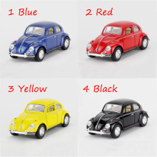 1967 VW Beetle type1 4 Colors 1/32 alloy model car Diecast Metal Pull Back Car Toy For Gift Collection(China)