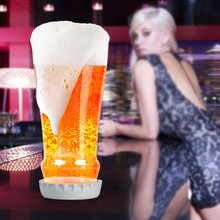 Creative Novelty Unique Beer Glass Cup Bottle-shaped Mug Beverage Whiskey Wine Party Juice Milk Drinkware with Removable Coaster