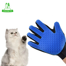 True Touch Deshedding Brush Glove for Cats Pet Combing Glove for Animals Pet Grooming Dogs Cleaning Brush Hair Glove(China)