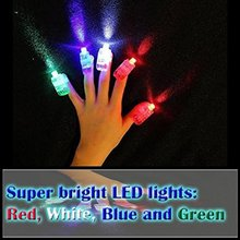 100pcs/lot Mix Color LED Bright Finger Flashlights LITE FINGERS Pary Favor FUN Led Finger Light 4 Color Laser Finger(China)