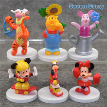 Mickey Mouse Minnie Pluto PVC Action Figure Collection Model Toys Kids Toys Dolls Girls for Children 6pcs/lot CSDB19