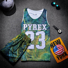 Men Number Letter Print Double Layers Mesh Breathable Superhero Sports Vest Shirt Shorts Basketball Football Outfits