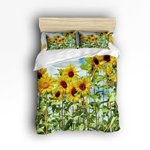CHARMHOME Beautiful Sunflower 3d Print Comforter Bedding Sets 4pcs Duvet Cover Bed Sheet Pillow Cases Size Twin Full Queen King(China)