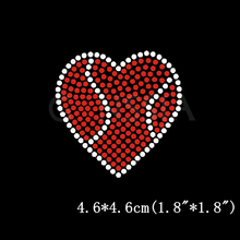10pc/lot Stylish basketball heart hot fix rhinestone for t shirt Heat transfer design motif Embellishment garment(ss-4122)
