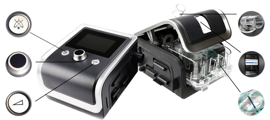 GII Auto CPAP Machine E-20AH-O Smart Home Ventilator For Sleep Snoring Apnea With Humidifier Mask Hose SD Card Free Shipping (24)