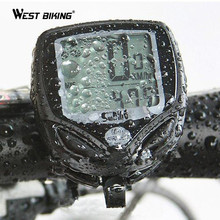 WEST BIKING New 100% Wireless LCD Bike Computer Bicycle Cycle Computer Odometer Speedometer Waterproof Stopwatch Ant Sensor