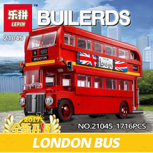 IN STOCK Lepin Technic Series 21045 1716Pcs Genuine The London Bus Set Building Blocks Bricks Children Toys Model Gifts 10258(China)