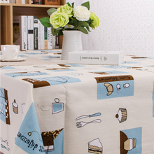 Coffee pot printing tablecloth cotton thick dining tablecloth hotel restaurant tablecloth home textile products