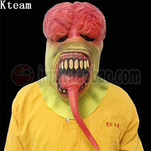 2017 Top Quality Halloween Cosplay Latex Bloody Zombie Mask Melting Face Walking Dead Scary Party Mask Mardi Gras Ball Masks