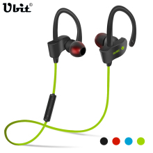 Ubit 56S Sports In-Ear Wireless Bluetooth Earphone Stereo Earbuds Headset Bass Earphones with Mic for iPhone 6 Samsung Phone