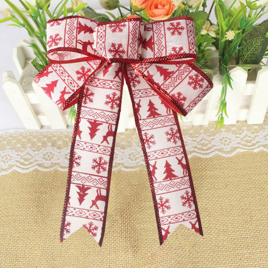 Romantic Rosette Hanging Charm Ribbon Party Decoration Christmas Tree Ornament christmas decorations for home C3088