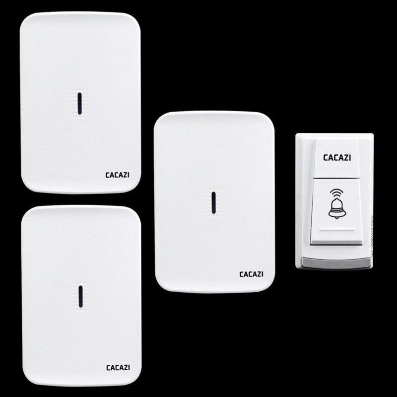 Wireless home electronic elderly DC battery pager move freely waterproof doorbell 1 transmitter+3 receivers wireless door bell<br>
