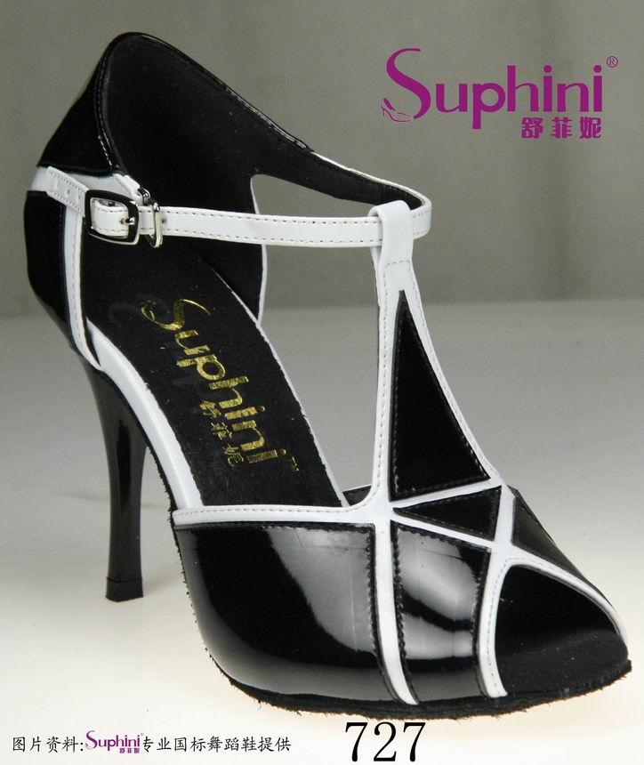 Free Shipping Suphini Woman Sexy High Heel Tango Shoes , Black Tango Dance Shoes<br><br>Aliexpress