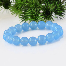 Sky blue chalcedony bracelet ice chalcedony gem jewelry blue color bracelet gift fo men jewelry bijoux women 0340(China)