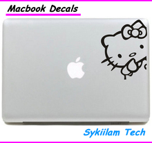 Cute Cartoon for Hello Kitty for apple Sticker Macbook Skin Air 11 13 Pro 13 15 17 Retina Decal Laptop Car Vinyl Logo Case