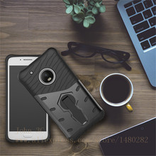 For Motorola Moto G5 Plus Phone Case Shock proof 360 swivel bracket Phone shell Netted heat dissipation Armor Phone Case Cover