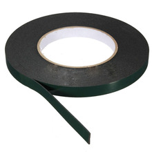 Nice 1 pc 10m Length Strong Adhesive Waterproof Double Sided Tape High quality 10mm width Foam Green Tape Trim home Car