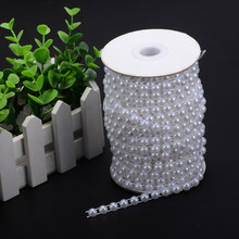 6mm Half Round Fishing Line Pearl Beads Garland Wedding Centerpiece Flower Table Decoration DIY Party Home Accessories
