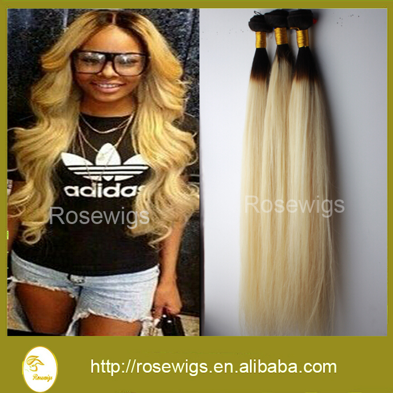Blonde Hair Weave Ombre Blonde Virgin Human Hair 7A Virgin Extension Brazilian Hair Bundles <br><br>Aliexpress