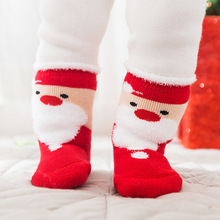 Buy 4 Pairs Christmas Socks Cotton Baby Boys Girls Winter Warm Sock Cute Deer Bear Snowflake Kids Gift Box Soft Floor Sock 0-2 Years for $11.91 in AliExpress store