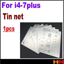 1Pcs for iPhone 4 4s 5 5s SE 5c 6 6S 7  PLUS universal multi-use planted tin network BGA ball net steel stencils soldering