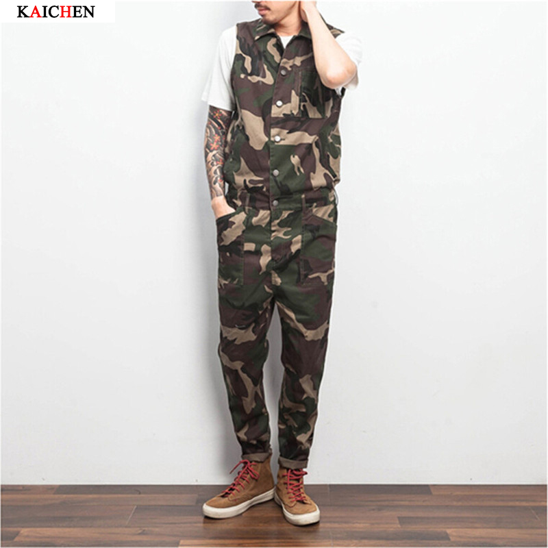 2017 New Fashion Mens Fashion Overalls Nice Jumpsuits For Men One Piece Jumpsuit Camouflage Trousers Одежда и ак�е��уары<br><br><br>Aliexpress