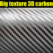 60CMX152CM/LOG 3D Carbon big texture film with very clear texture by free shipping