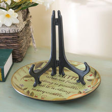 "4 Size 3 ""5"" 7 ""9"" Black Plastic Display Stander Dish Rack Bowl Plate Frame Photo Book Holder  Home Decoration Easel Stander"