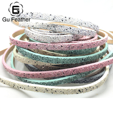 GUFEATHER 5*2MM Sequined leather cord/jewelry accessories/jewelry findings/rope/cords/diy accessories/jewelry making