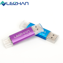 LEIZHAN USB Flash Drive 16GB OTG Pendrive 32GB USB 2.0 Smartphone Pen Drive 4GB Pendrives Flash Drive Memory Stick 64GB U Disk