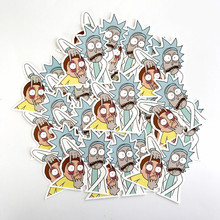 Western animation rick and morty Notebook refrigerator skateboard trolley case backpack Tables book PVC Car sticker