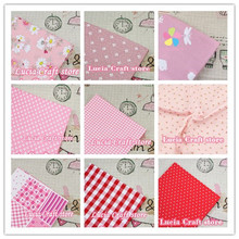 Lucia Crafts 1piece/lot 50*50cm Cotton Fabric for Sewing DIY Quilting Patchwork Tissue Kids Bedding Textile Doll 20020019