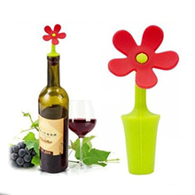 1 piece Potted Flower-shaped Silicone Wine Stopper Random Colors(China)