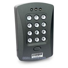 HOMSECUR Door Access Control Keypad RFID ID Proximity Reader +10 ID 125Khz Cards(Key Fob)