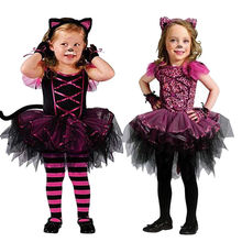 2pcs suit !! Halloween Toddler Baby Girl Kid Party Costume Xmas Dress Up Cosplay +hairband Outfit 2-7T