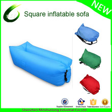 2017 Hot New Nylon Fabric and Air Filling Square Laybag sleeping Lazy bag Hangout inflatable sunbed
