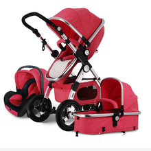 Four Colors High Security Baby Pram Pushchairs,Mommy Travel Baby Carriage,3C Portable Folding Baby Stroller 3 in 1,bebek arabasi